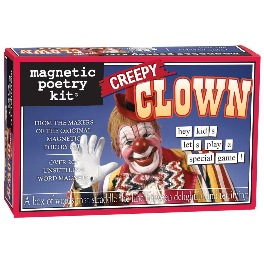 Magnetic Poetry Creepy Clown