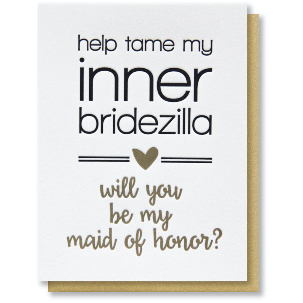 Maid of Honor Inner Bridezilla Card