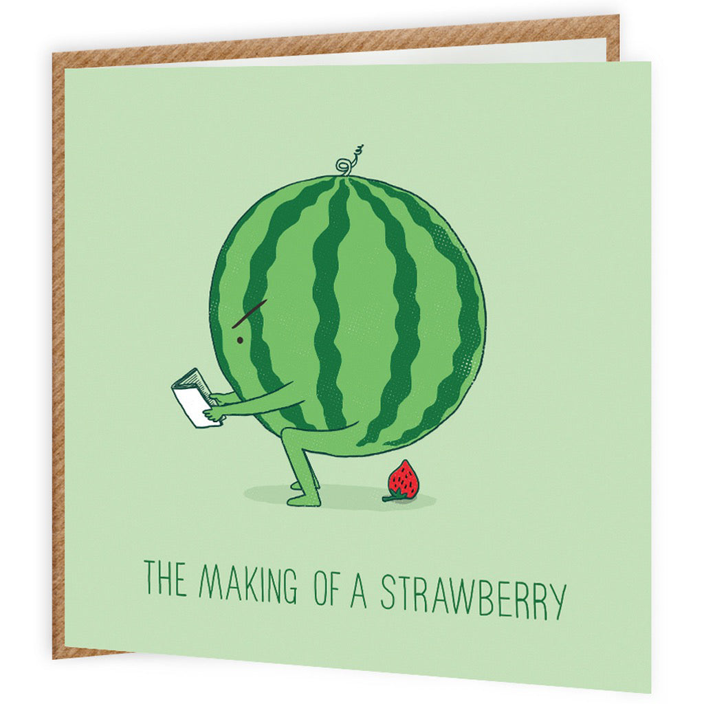 Making Of A Strawberry Card