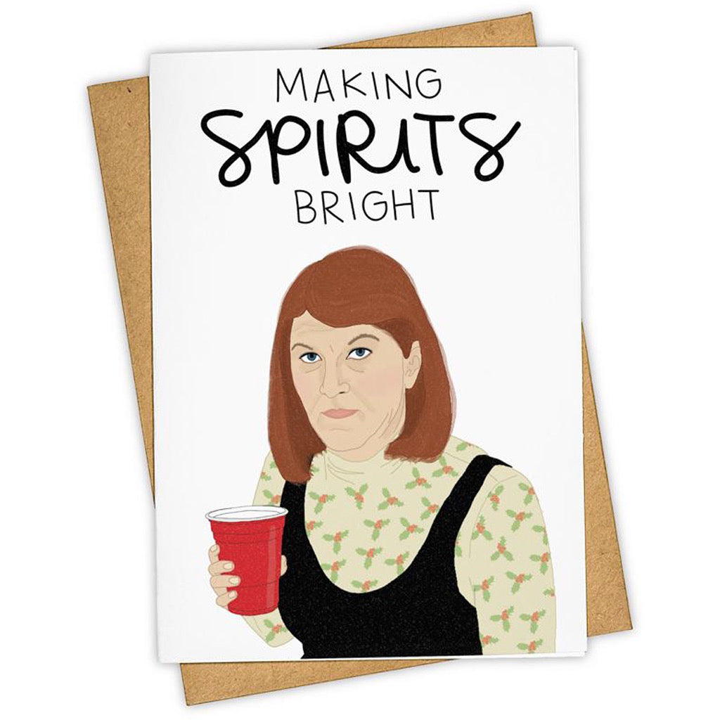 Making Spirits Bright The Office Card