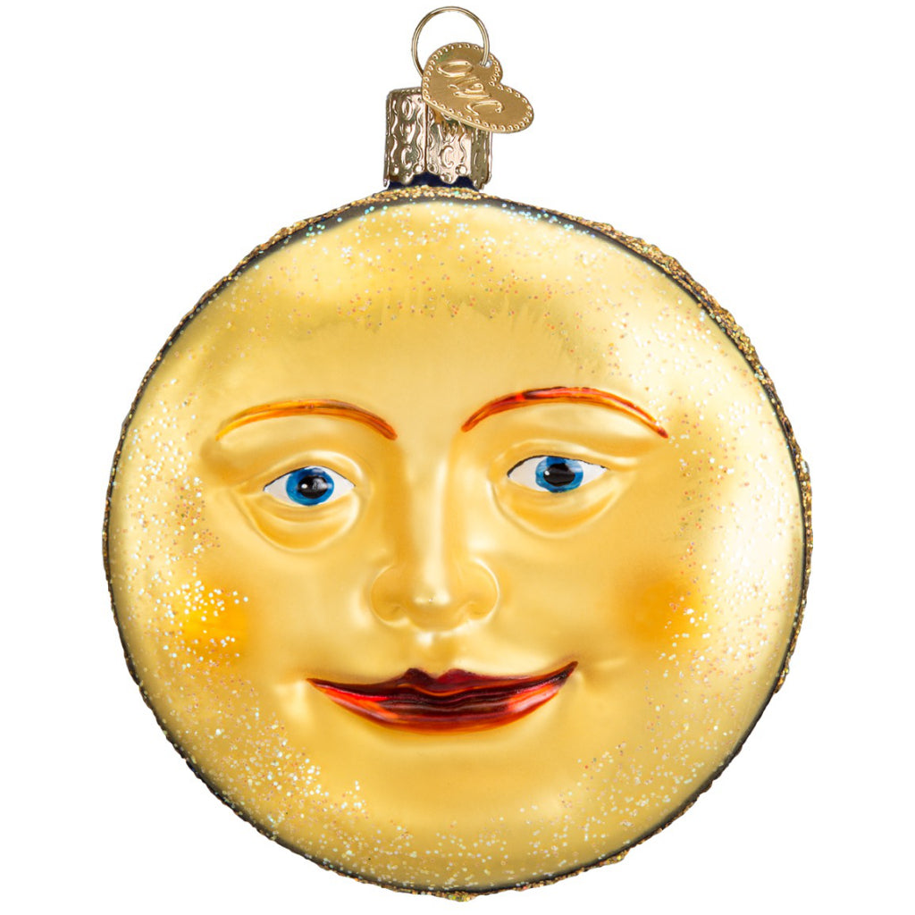 Back of Man In The Moon Ornament.
