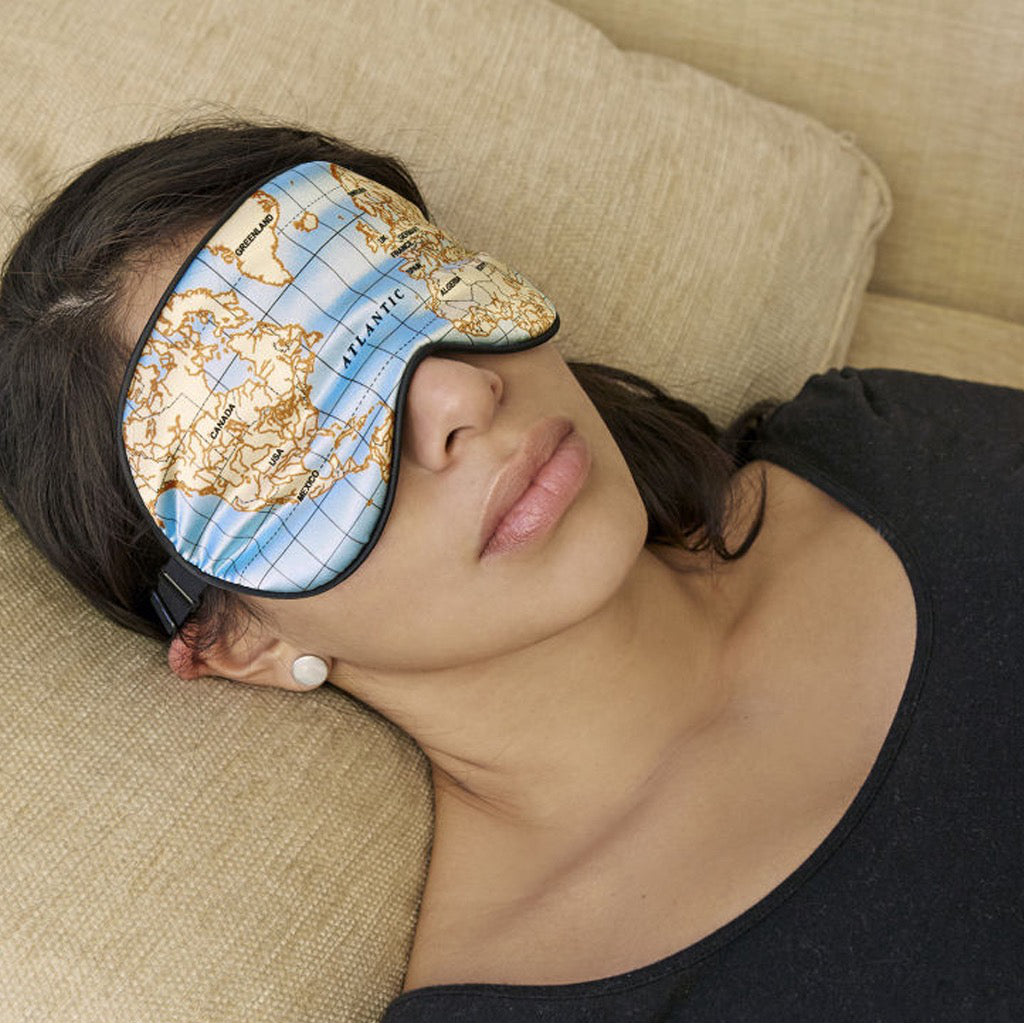 Maps Ultra Soft Sleep Mask In Use