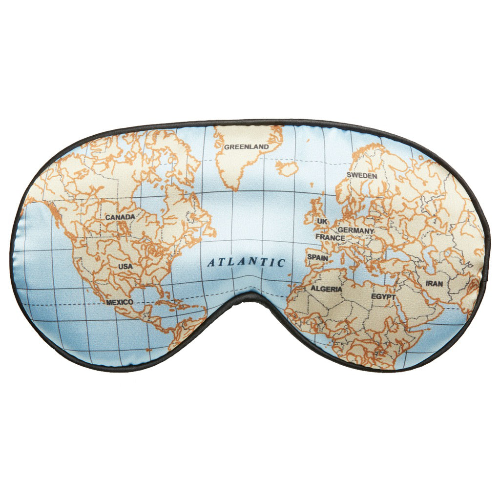 Maps Ultra Soft Sleep Mask Light blue