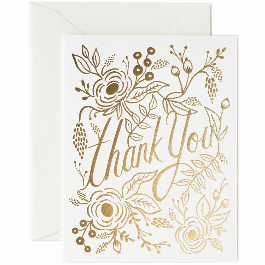 Marion Gold Thank You Card