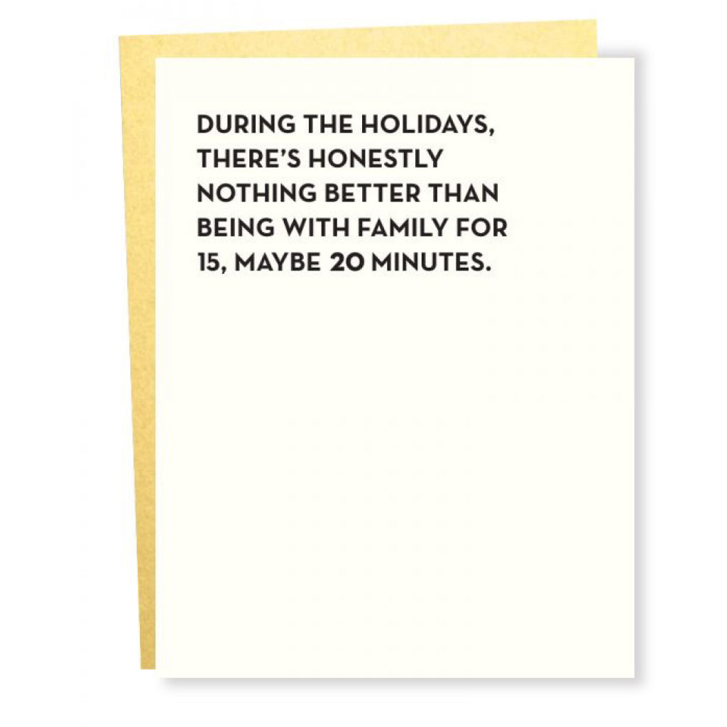 Maybe 20 Minutes Family Time Card