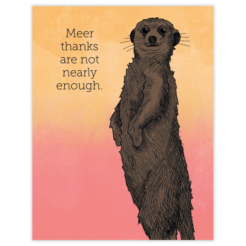 Meerkat Thank You Card