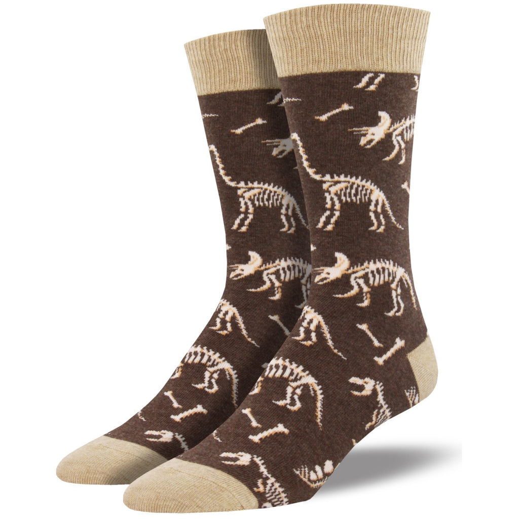 Men's Can You Dig It Socks Brown Heather