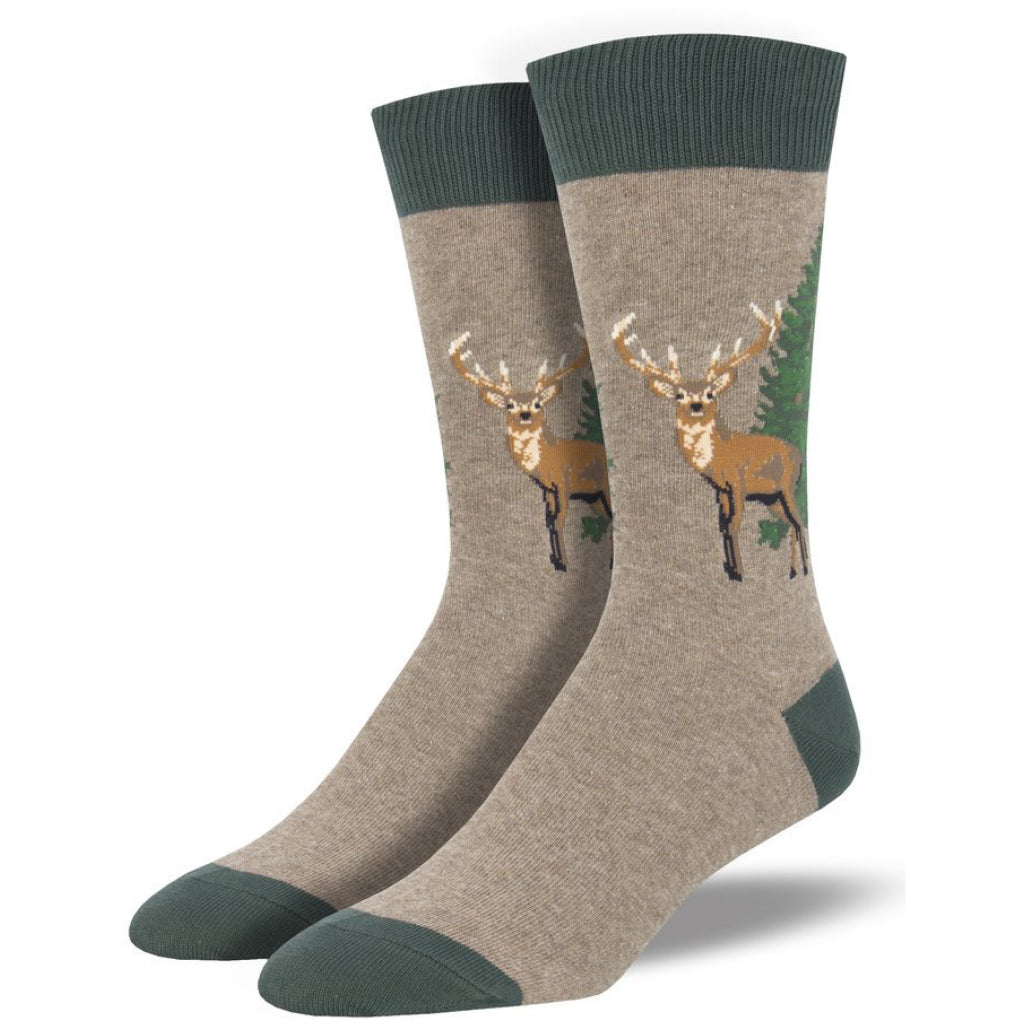 Men's Going Stag Socks Brown Heather