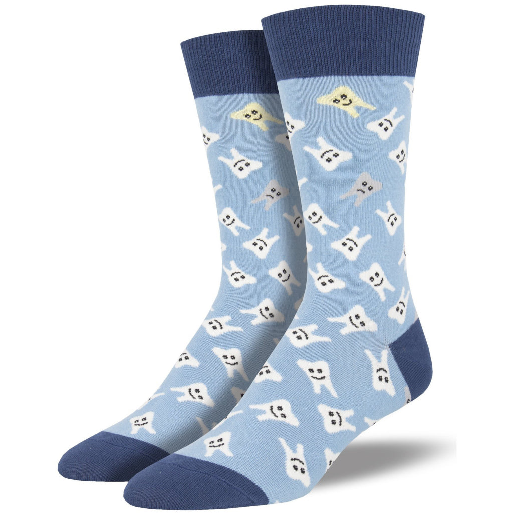Men's Happy Teeth Socks Blue