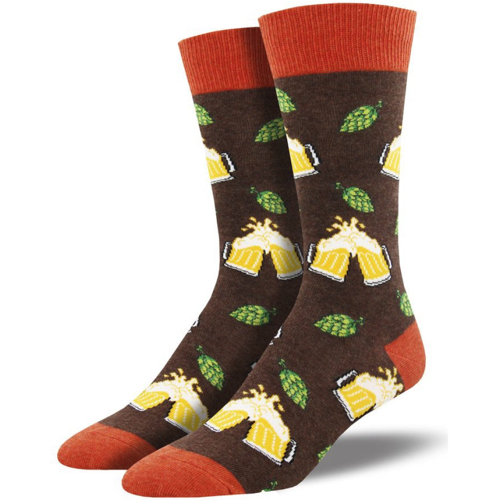 Men's Hoppier Together Socks Brown Heather
