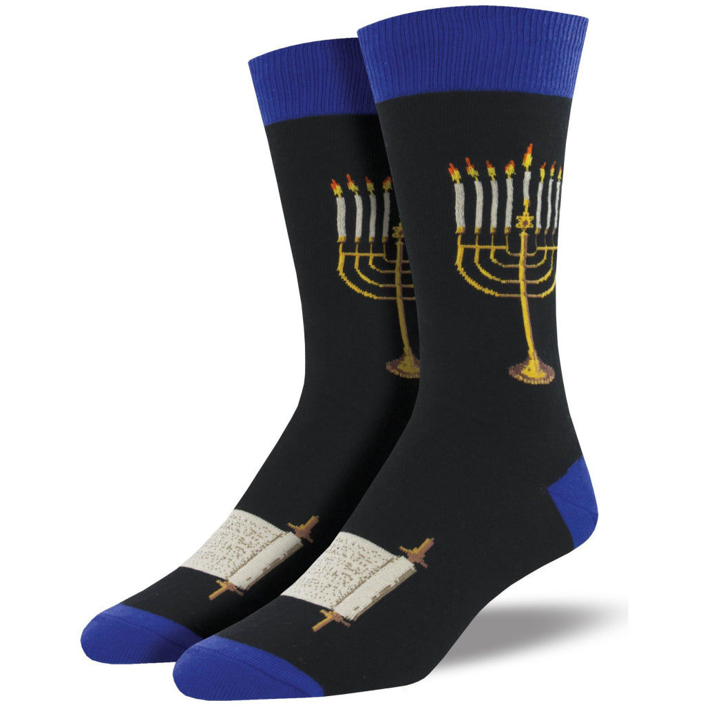 Men's Menorah Socks Black