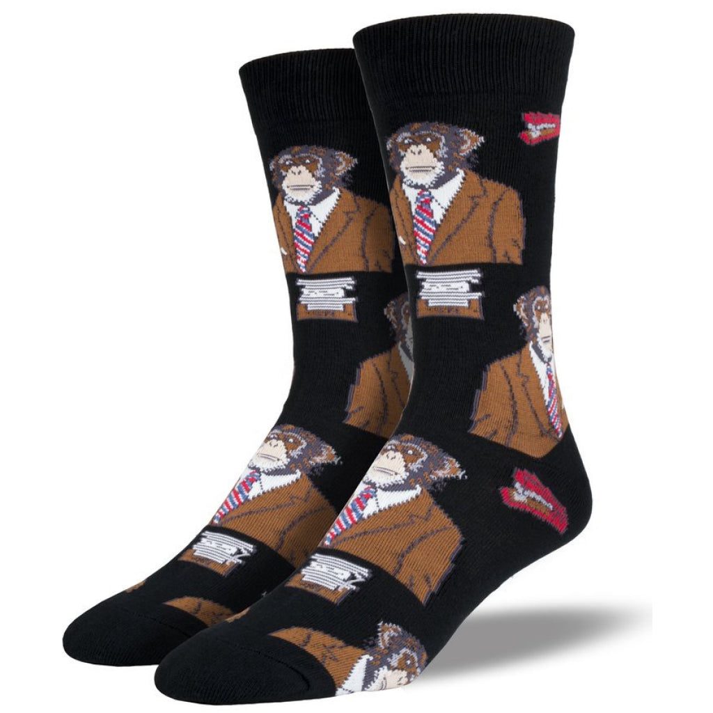 Men's Monkey Biz Socks Black