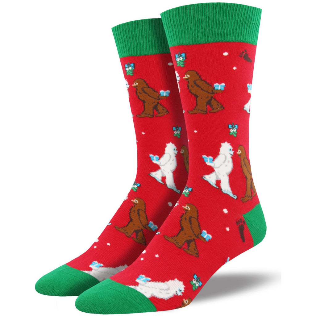 Men's Mythical Kissmas Socks Red.
