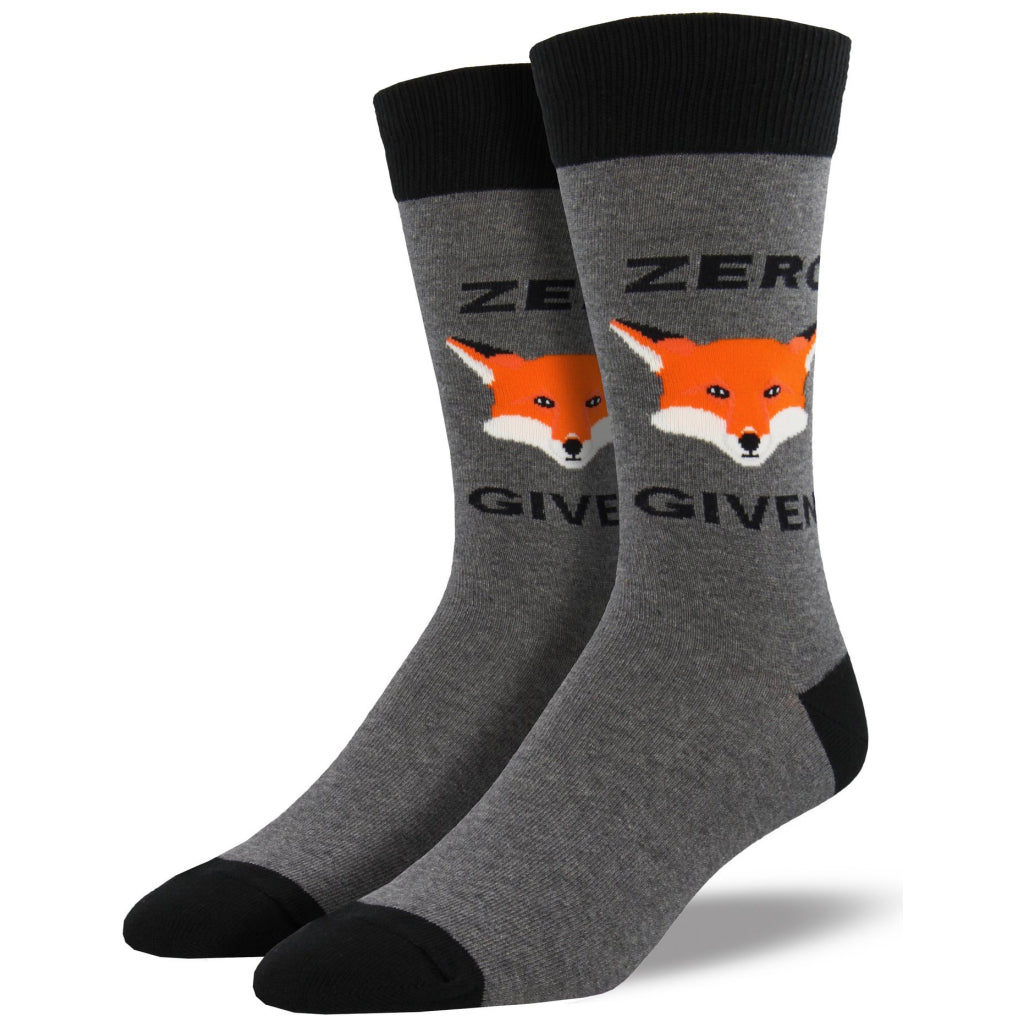 6913775067a3 Men's Zero Fox Given Socks Heather Gray by Socksmith – Canada