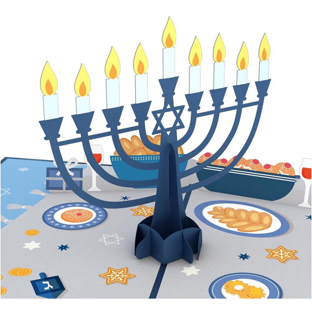 Menorah Lights 3D Pop Up Card