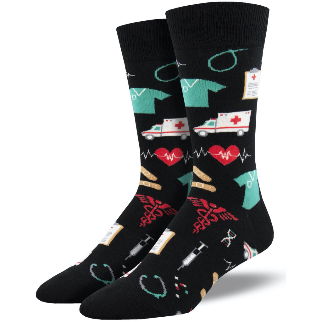Men's Healthcare Heros Socks Black