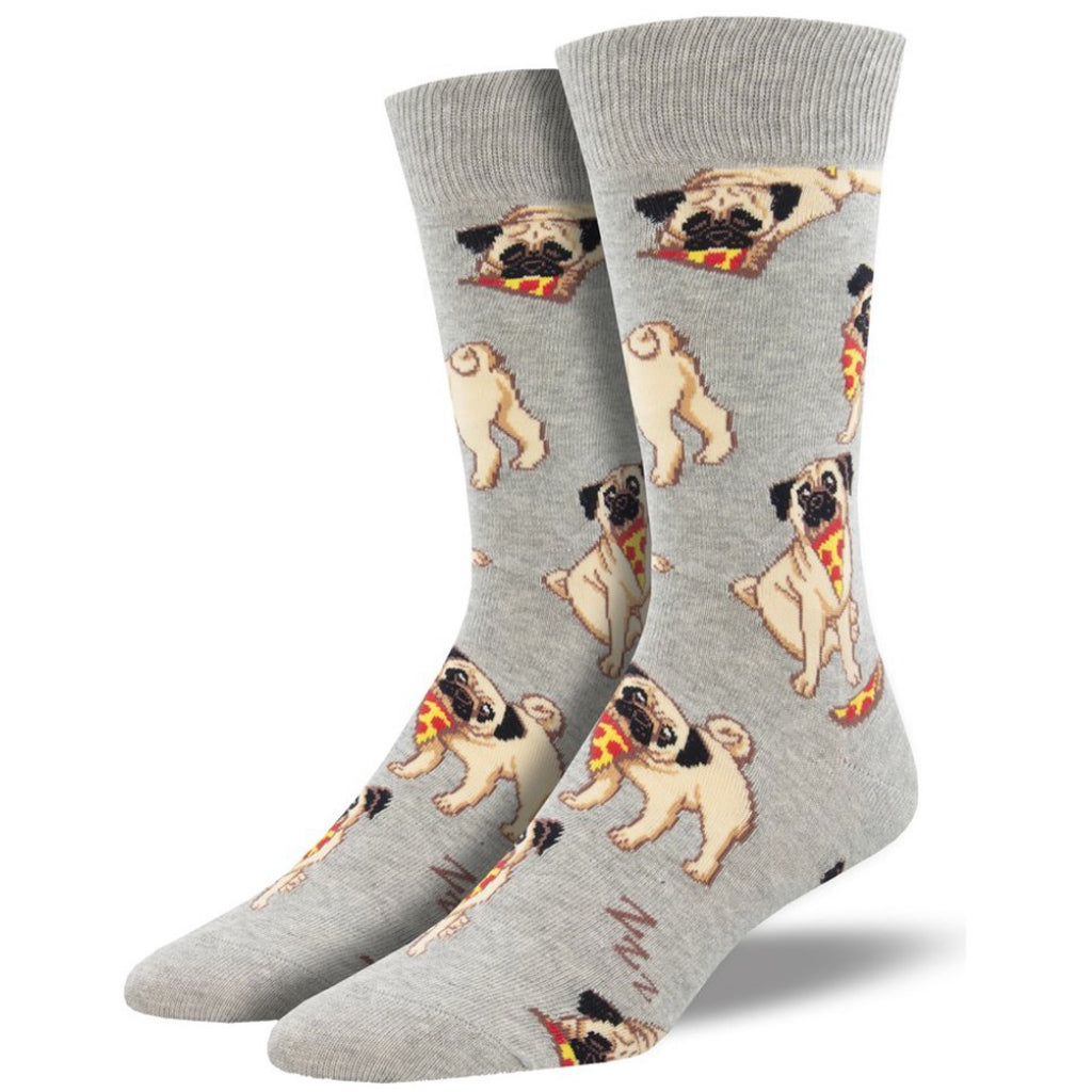 Men's Man's Best Friend Socks Grey Heather