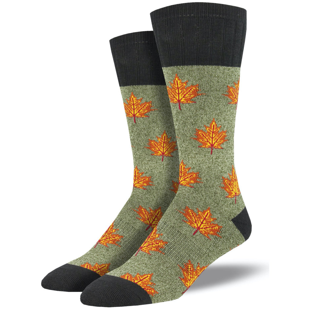 Men's Maple Leaf Outlands Socks Green