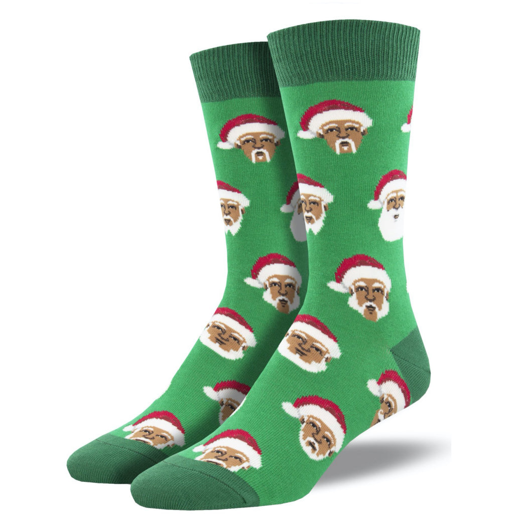 Men's Styling Santa Socks Green
