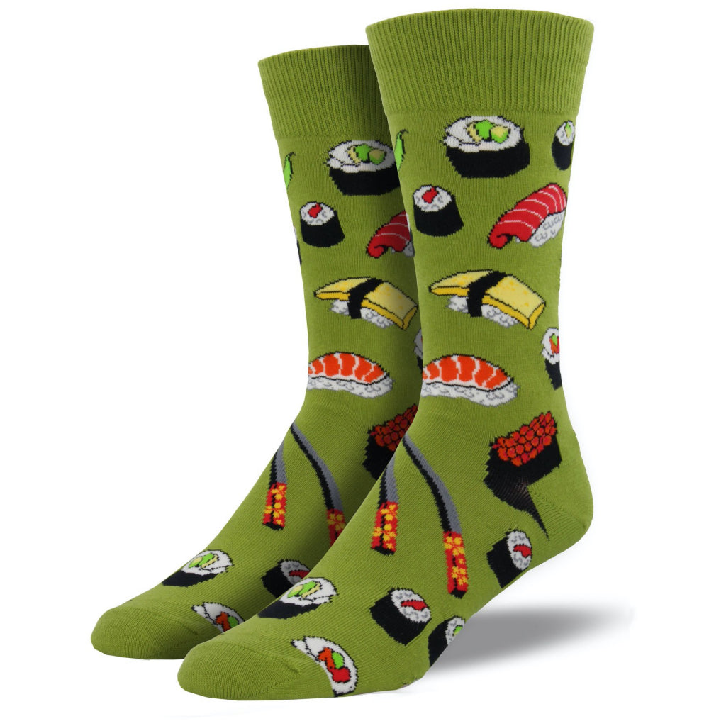 Men's Sushi Socks Fern Green
