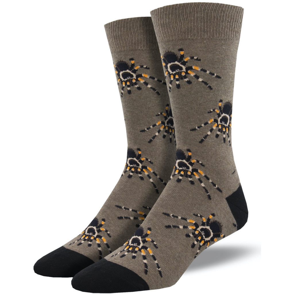Men's Tarantula Socks Brown Heather