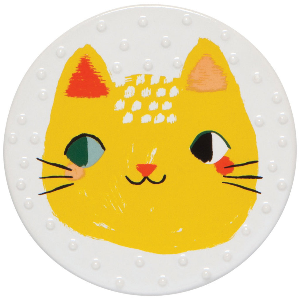 Meow Meow Coasters Ceramic Set of 4 Sample