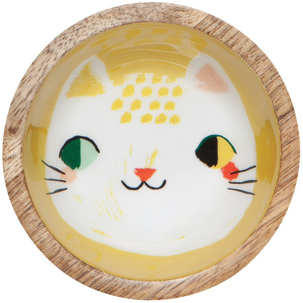 Meow Meow Mini Mango Wood Bowl