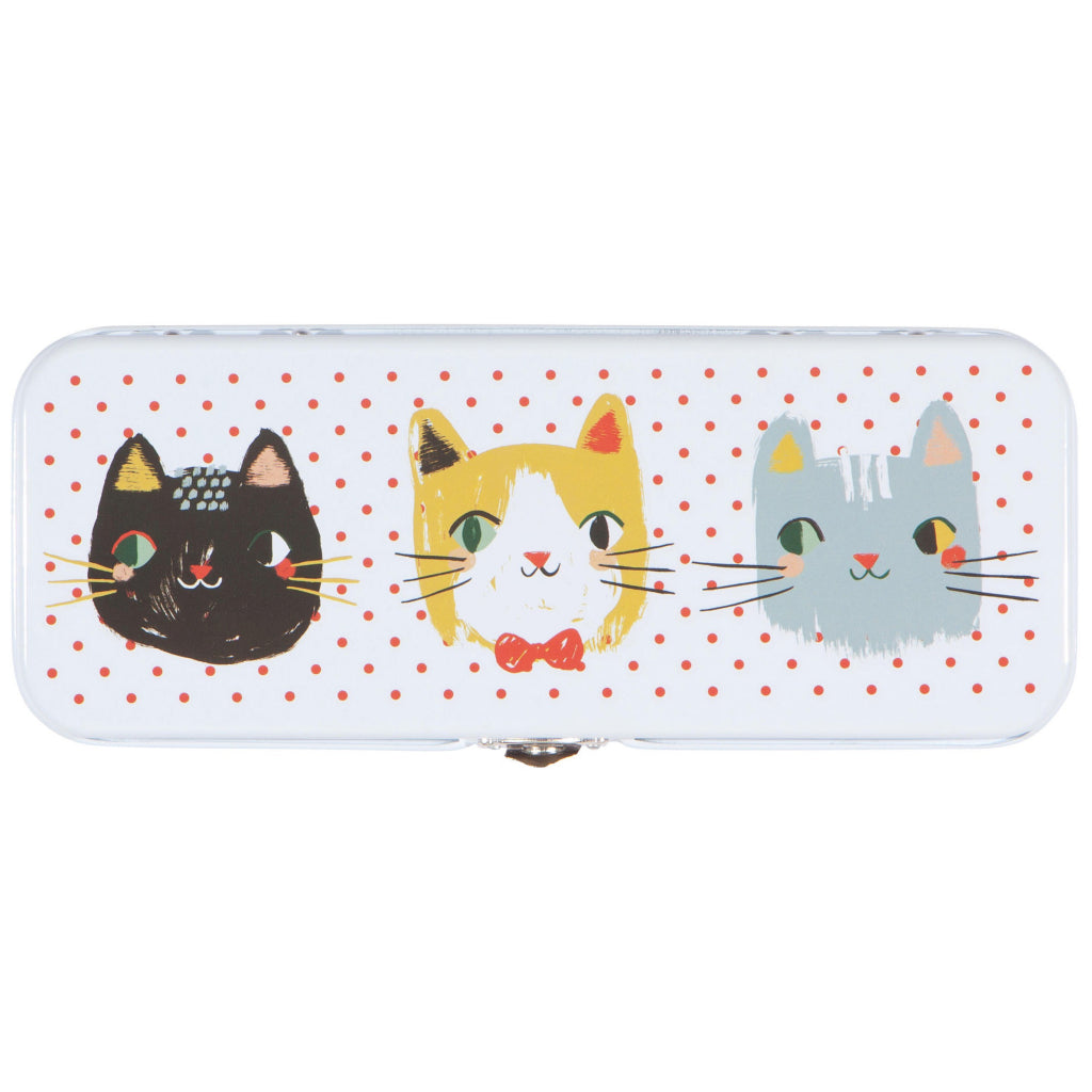 Meow Meow Pencil Box Top Down View