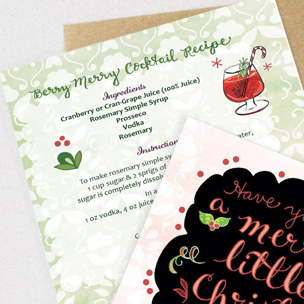 Merry Little Christmas Drink Card Back