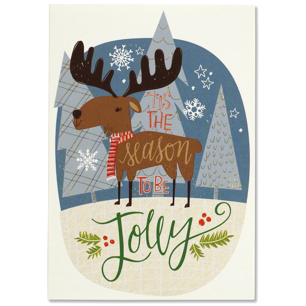 Merry Moose Boxed Holiday Cards by Peter Pauper Press – Outer Layer