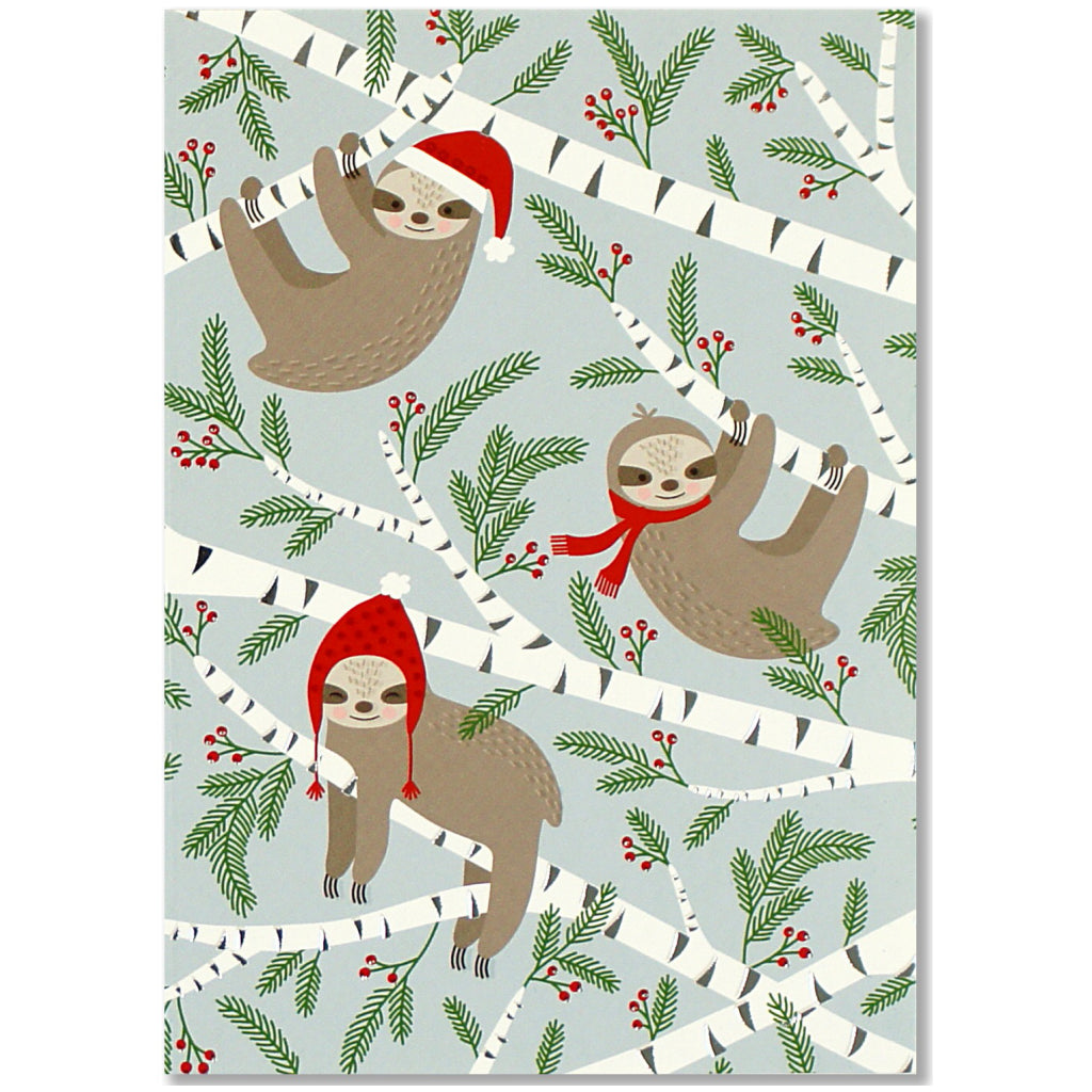 Merry Sloths Boxed Holiday Cards by Peter Pauper Press – Outer Layer