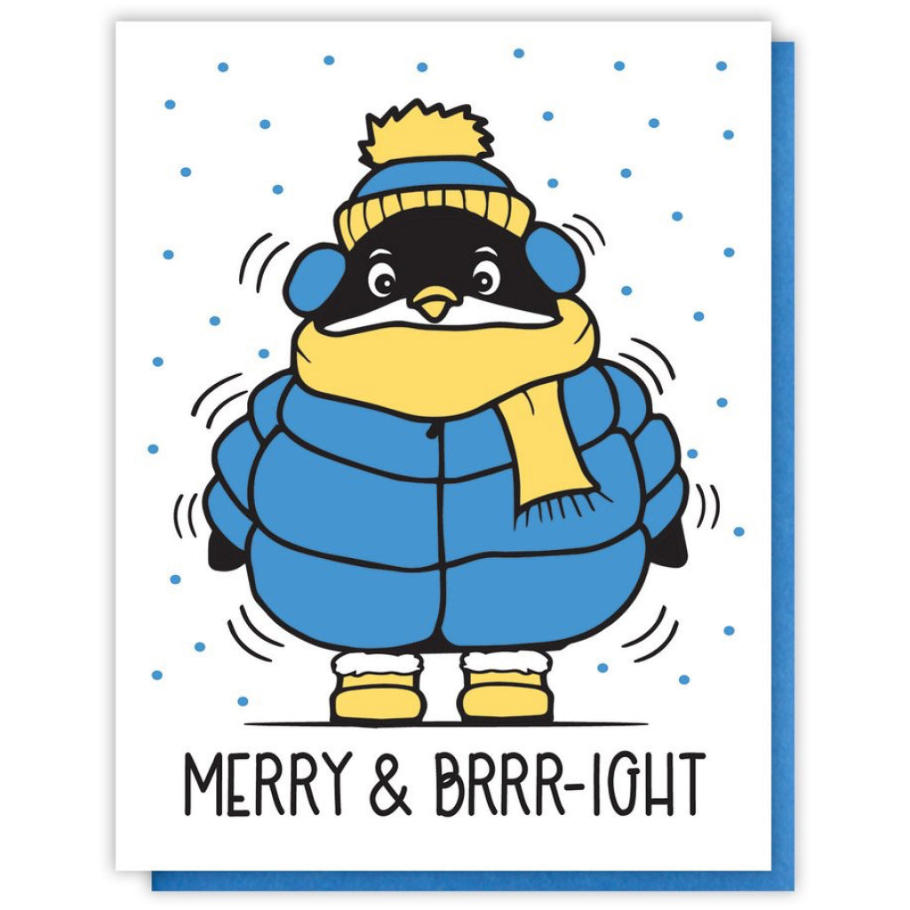 Merry & Bright Penguin Card