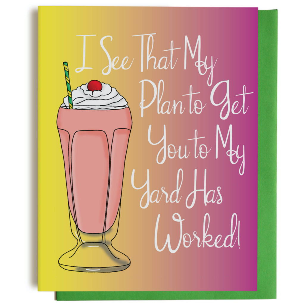 Milkshake Plan Greeting Card