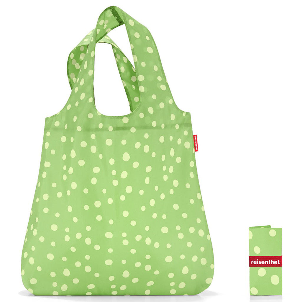 Mini Maxi Shopper Green Spots