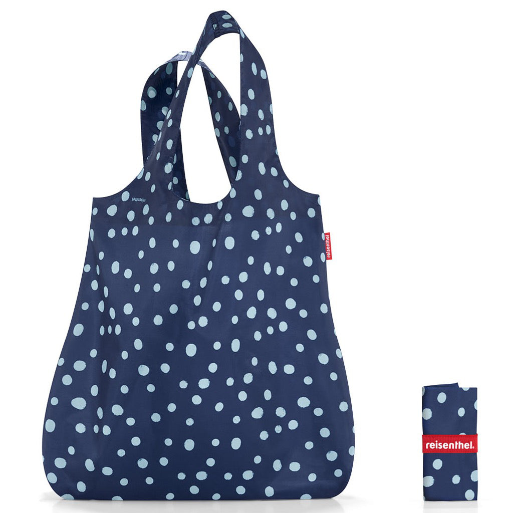 Mini Maxi Shopper Navy Spots