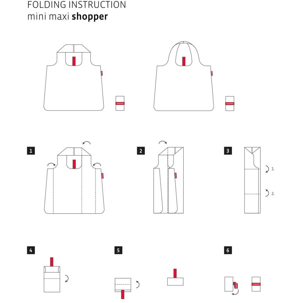 Instructions for Mini Maxi Shopper Navy Spots.