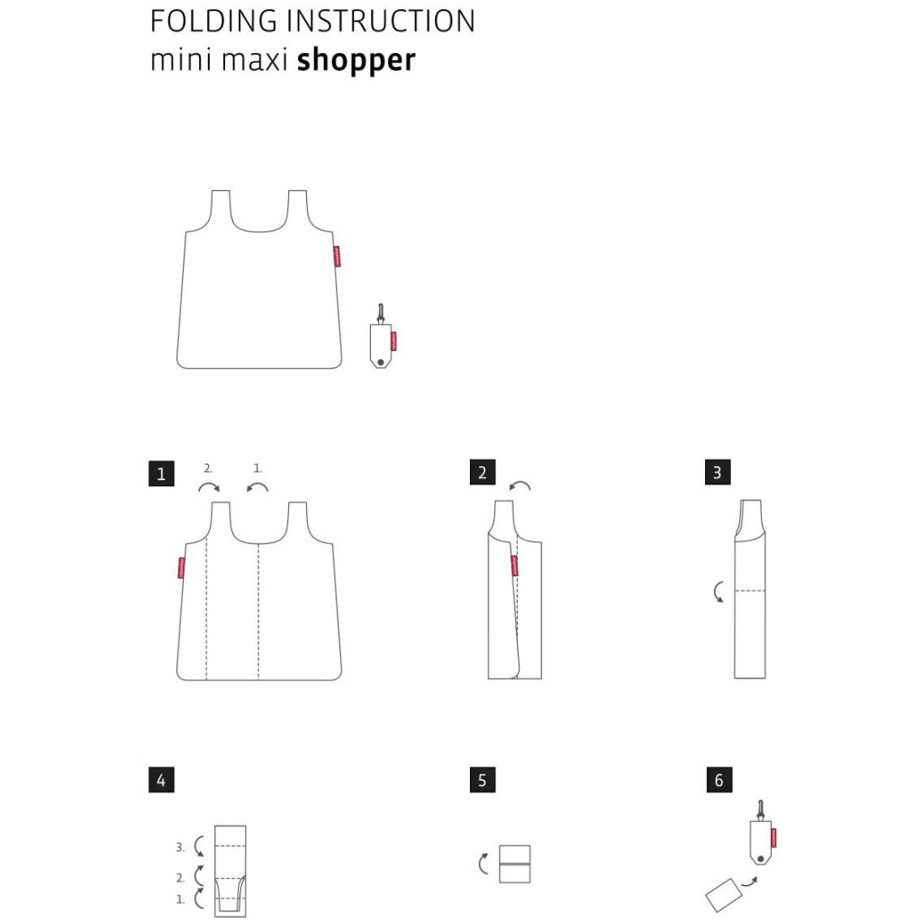 Instructions for Mini Maxi Shopper Pocket French Blue.