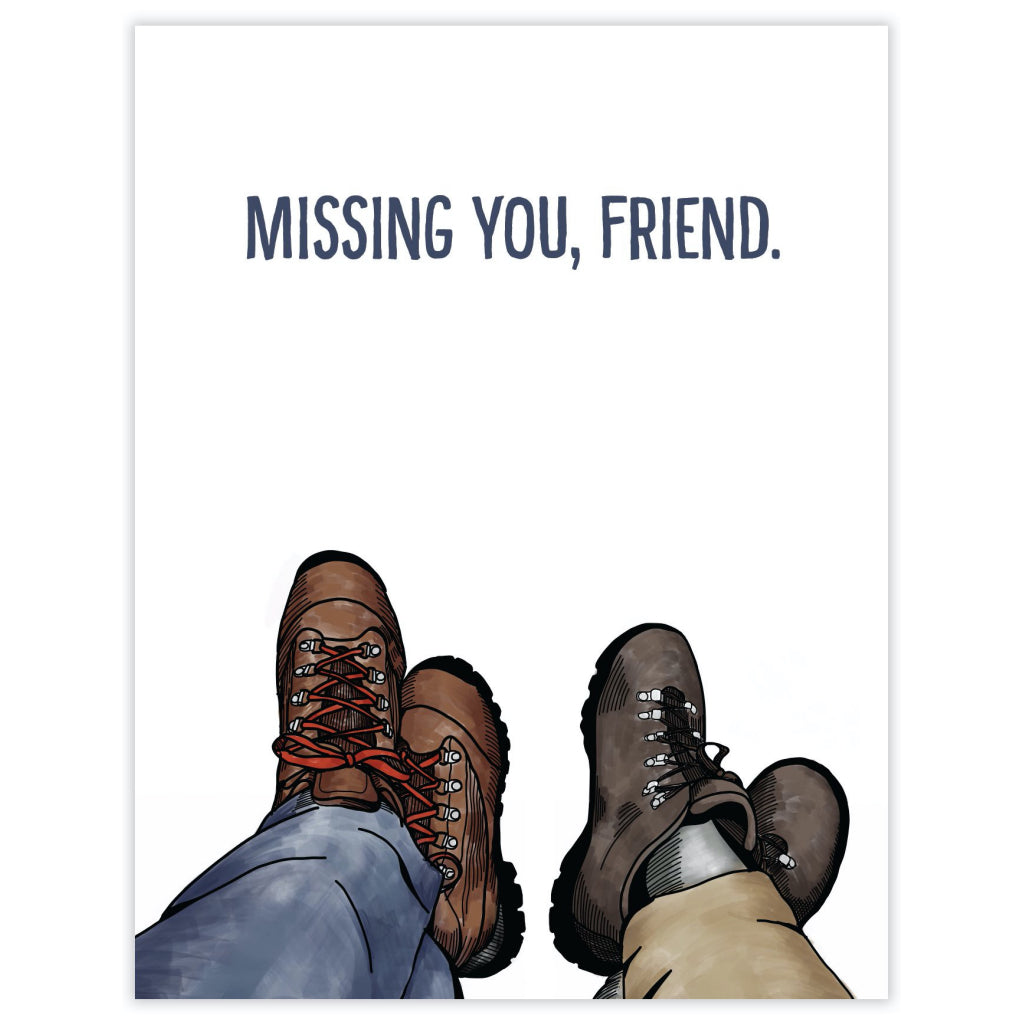 Miss You Hiking Boots Card