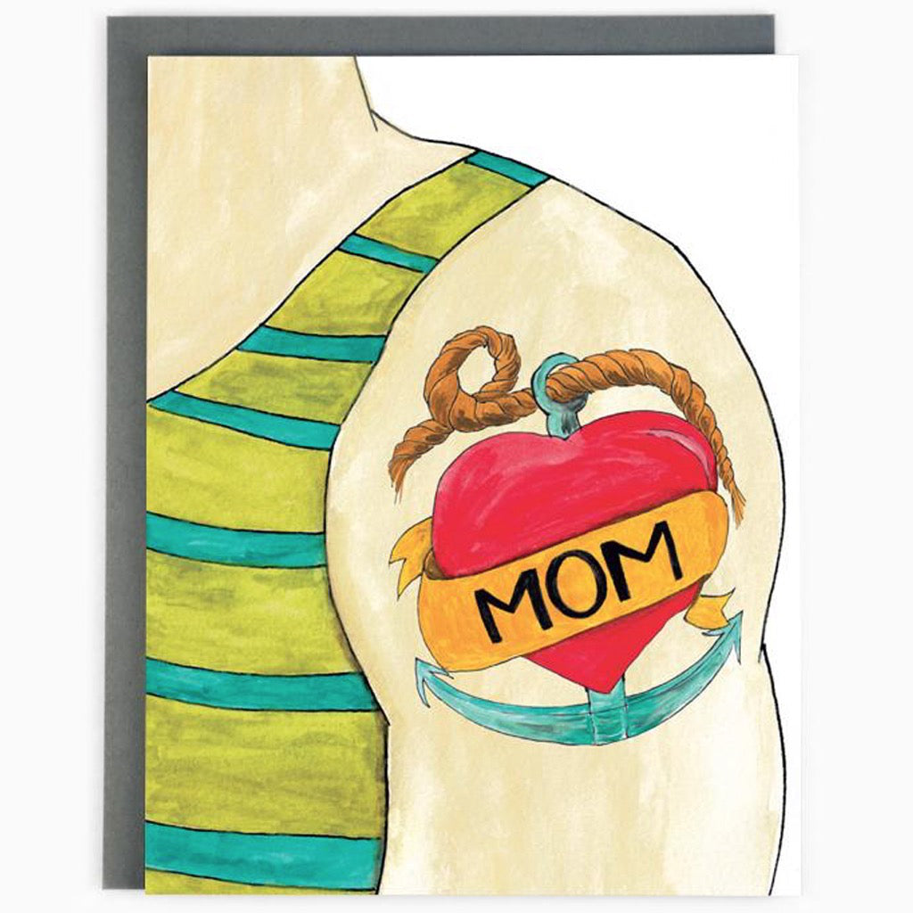 Mom Arm Tattoo Card