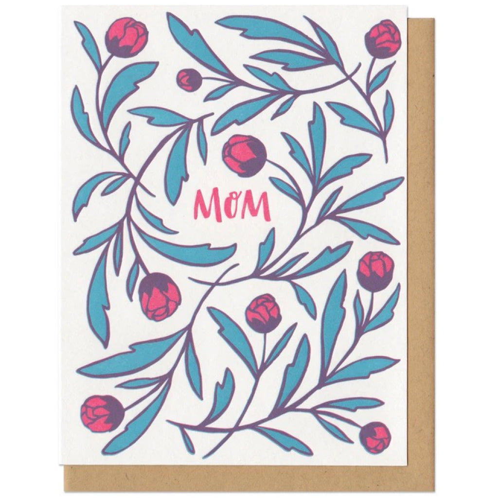 Mom Flowers Card