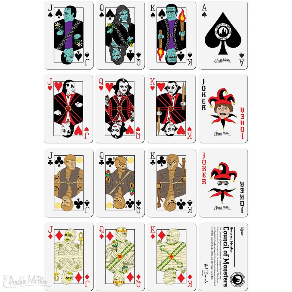 Monster Playing Cards Sample