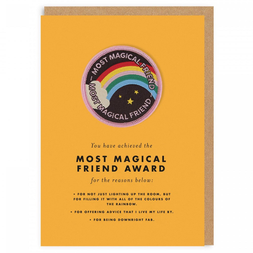 Most Magical Friend Award Patch Card