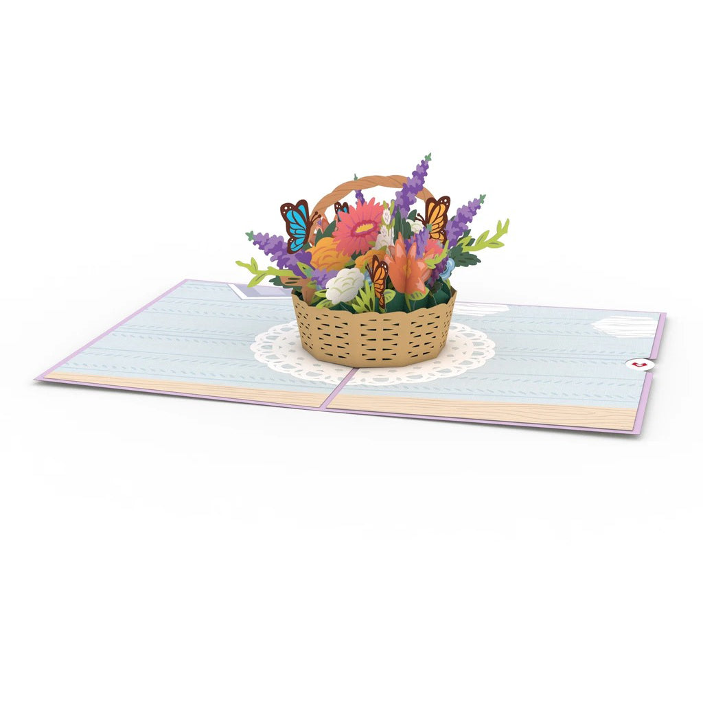 Mother's Day Flowers 3D Pop Up Card Interior