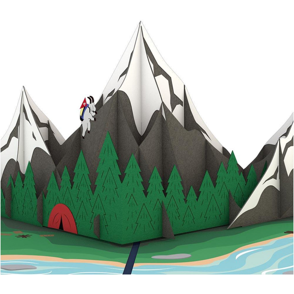 Mountains 3D Pop Up Card