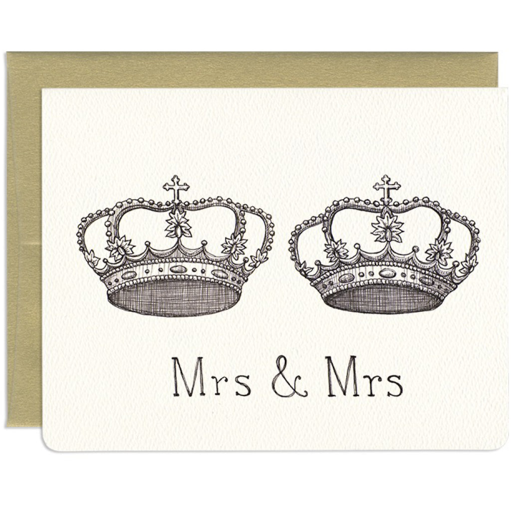 Mrs. & Mrs. Crowns Card