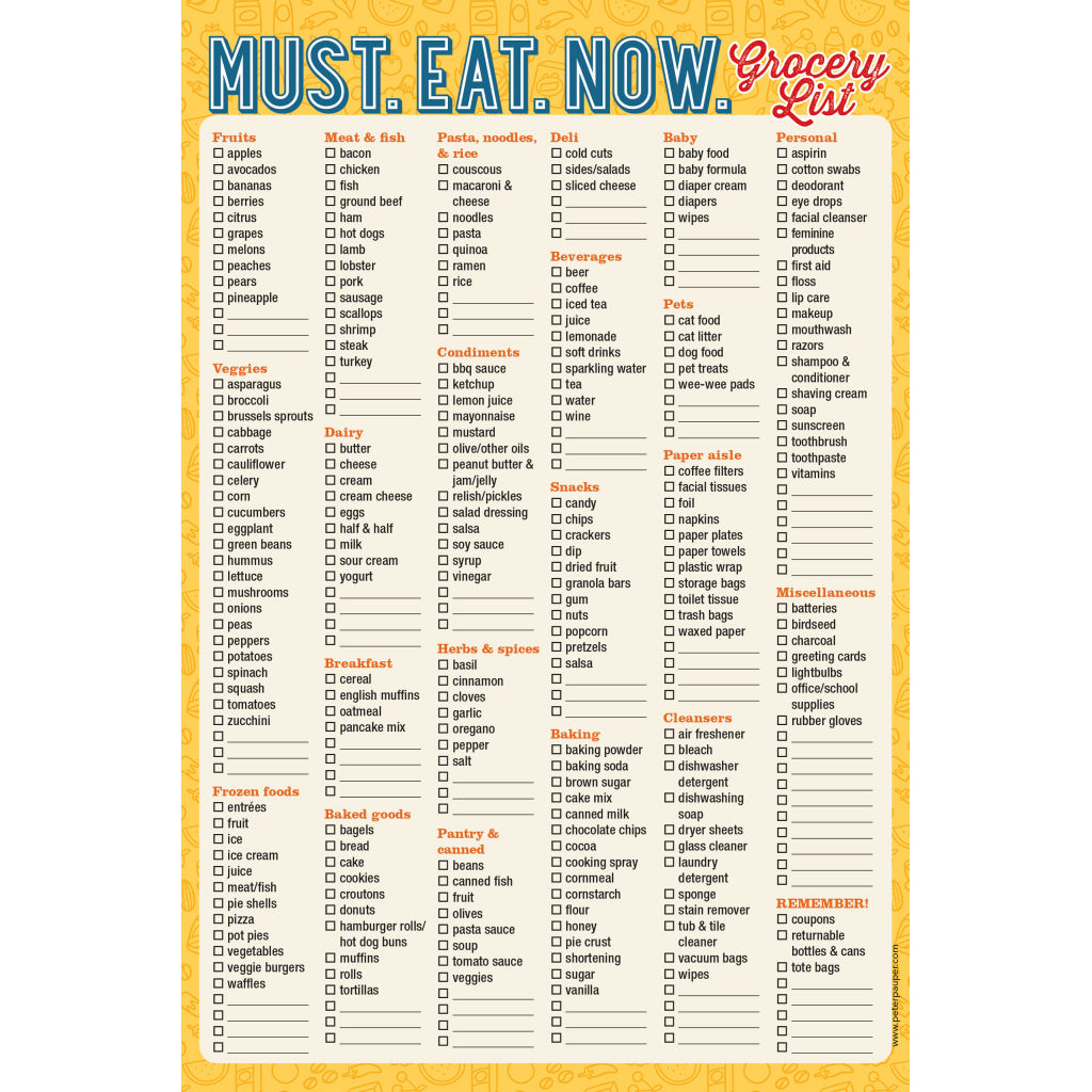 Must Eat Now Note Pad