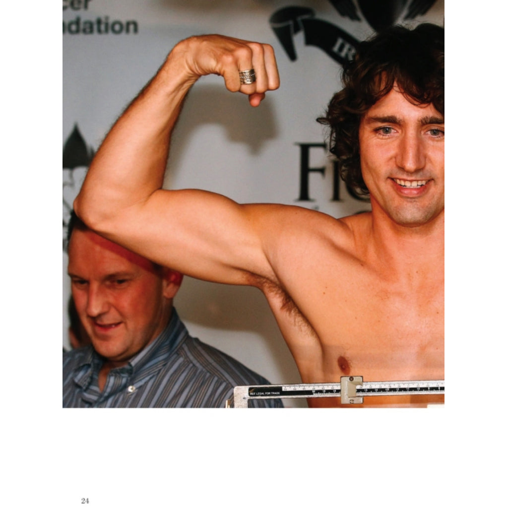 Justin Trudeau flexing his muscles.