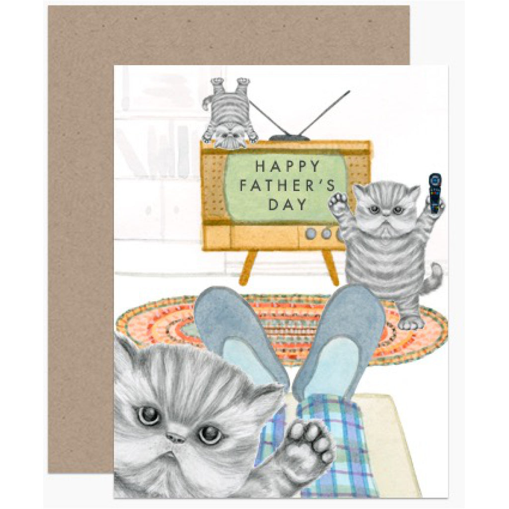 Naughty Kittens Dad Card