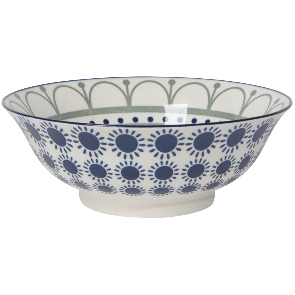 Navy Sun 8 Inch Stamped Bowl