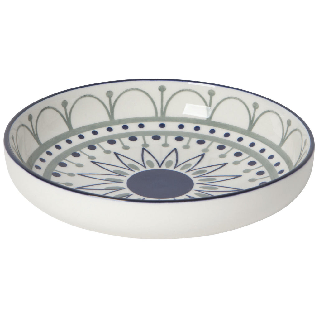 Navy Sun Shallow Bowl